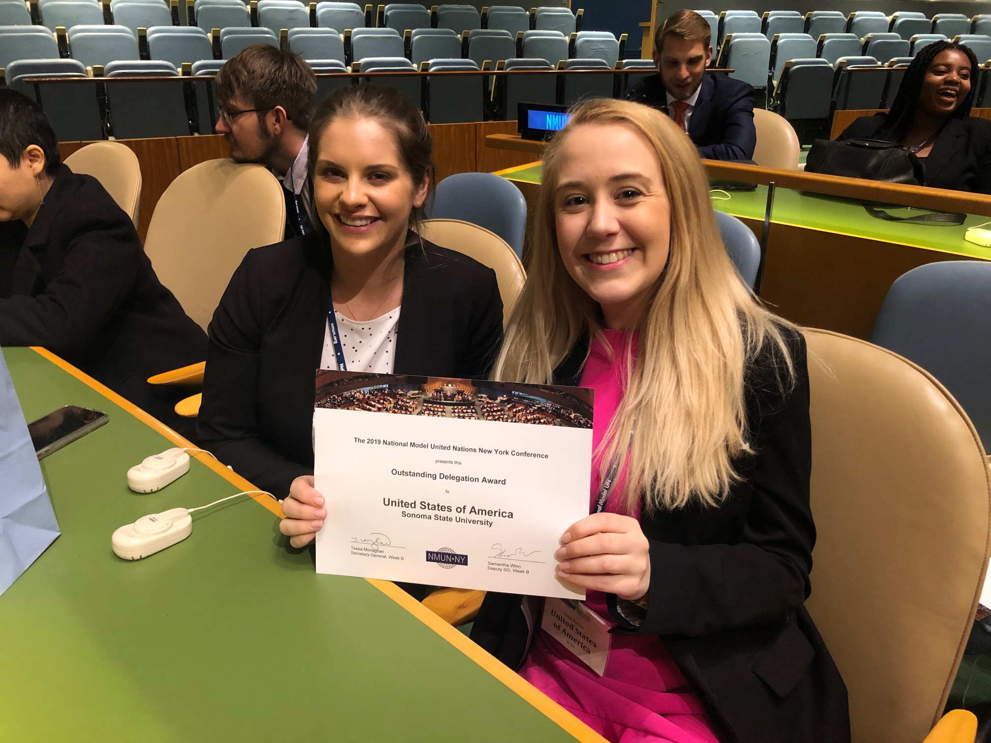 Model United Nations students 2017